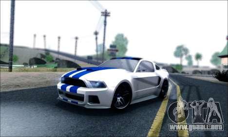 Ford Mustang GT 2013 v2 para GTA San Andreas interior