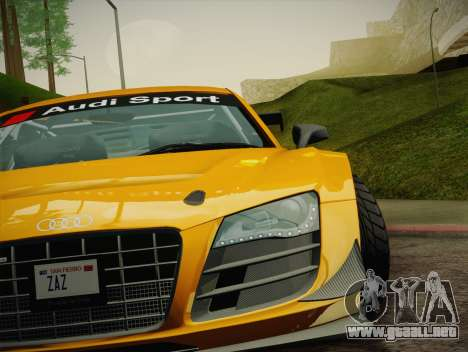 Audi R8 LMS Ultra W-Racing Team Vinyls para GTA San Andreas interior