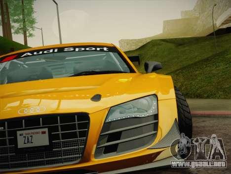 Audi R8 LMS Ultra W-Racing Team Vinyls para GTA San Andreas interior