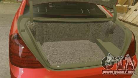 Mercedes-Benz S65 (W221) AMG para GTA 4 vista lateral