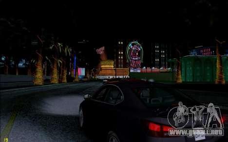 ENB HD CUDA 2014 v1.0 para GTA San Andreas sucesivamente de pantalla