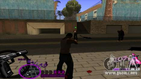 C-HUD Ballas by HARDy para GTA San Andreas tercera pantalla