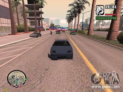 SA-MP 0.3z para GTA San Andreas sucesivamente de pantalla