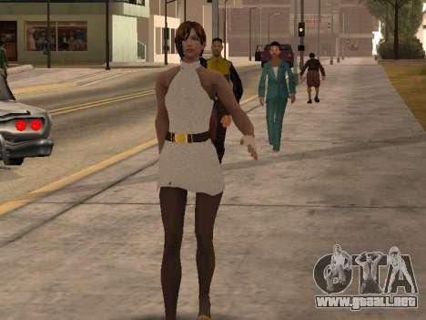 Chica de vestido blanco para GTA San Andreas segunda pantalla