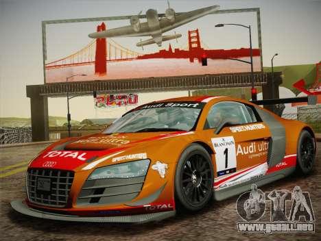Audi R8 LMS Ultra W-Racing Team Vinyls para vista lateral GTA San Andreas
