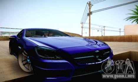 Mercedes Benz SLK55 AMG 2011 para la vista superior GTA San Andreas