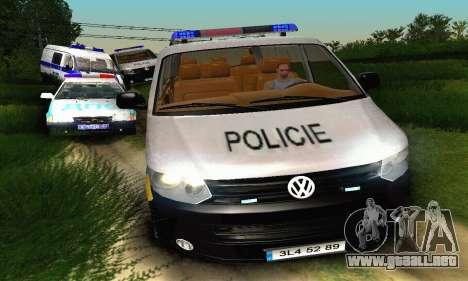 Volkswagen Transporter Policie para visión interna GTA San Andreas