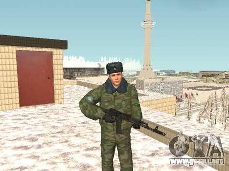 Militar en el uniforme de invierno para GTA San Andreas