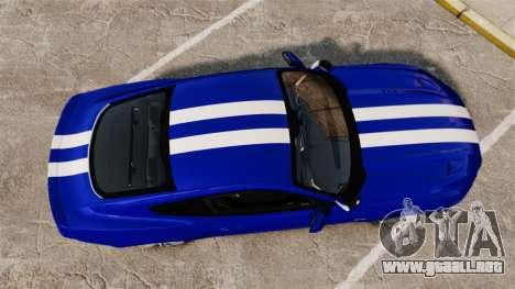 Ford Mustang GT 2015 Unmarked Police [ELS] para GTA 4 visión correcta