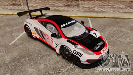 McLaren MP4-12C GT3 (Updated) para GTA 4 interior