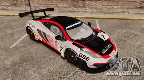 McLaren MP4-12C GT3 (Updated) para GTA 4 interior