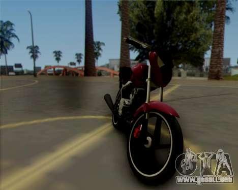 Honda Titan para GTA San Andreas left