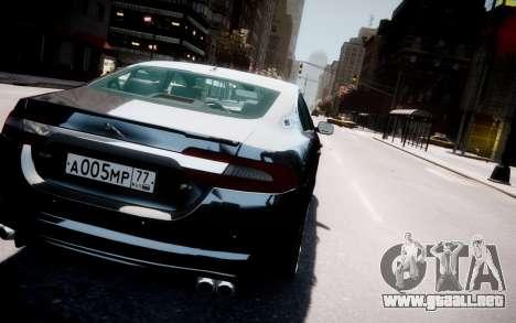 Jaguar XF-R 2012 v1.2 para GTA 4 vista desde abajo