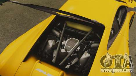 McLaren MP4-12C GT3 para GTA 4 vista lateral