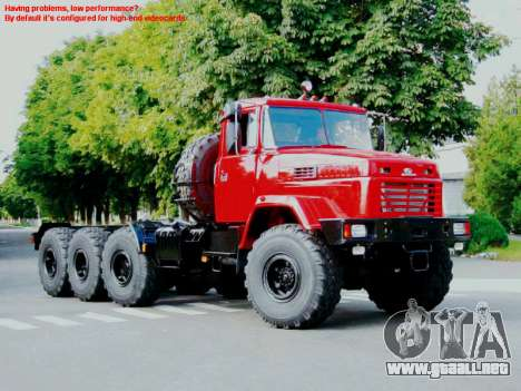 Inicio pantallas Soviética Camiones para GTA San Andreas tercera pantalla