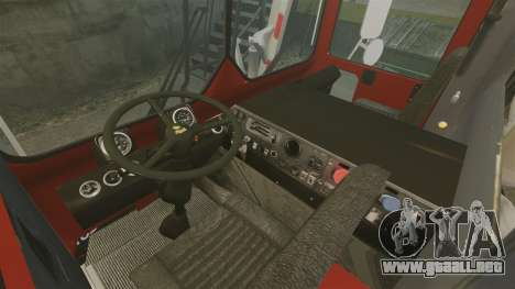 Mack MR 688S Front Load 2000 para GTA 4 vista interior
