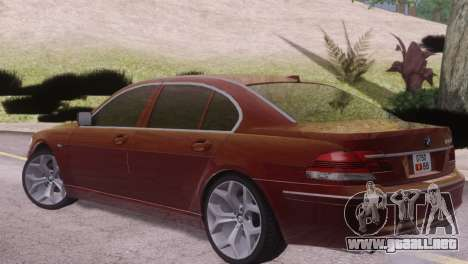 BMW 750Li E66 para la visión correcta GTA San Andreas