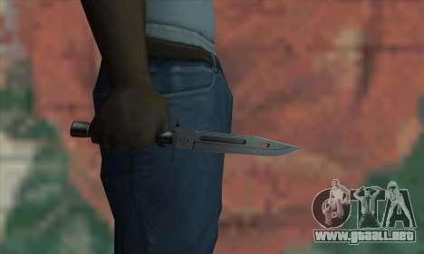M9 Knife para GTA San Andreas tercera pantalla