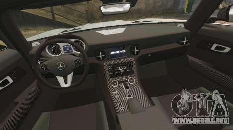 Mercedes-Benz SLS 2014 AMG Black Series para GTA 4 vista lateral