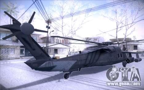 MH-X Silenthawk para GTA San Andreas vista posterior izquierda