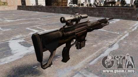 Rifle de francotirador DSG-1 para GTA 4 segundos de pantalla