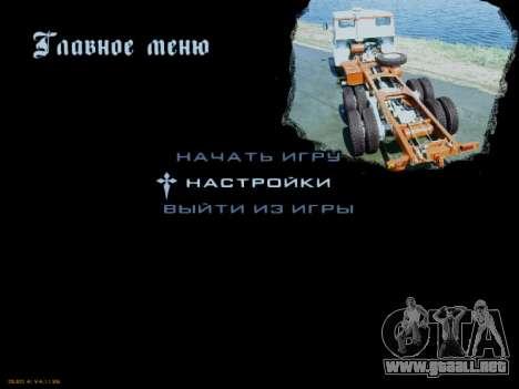 Inicio pantallas Soviética Camiones para GTA San Andreas