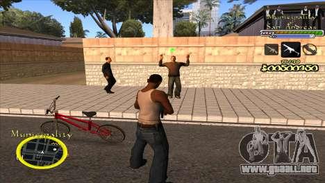C-HUD Municipality para GTA San Andreas segunda pantalla