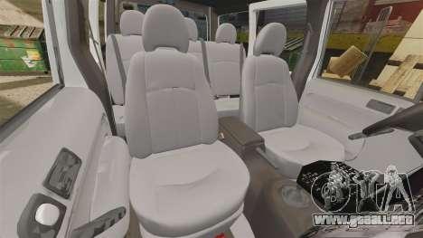 Ford Transit Connect Turkish Police [ELS] v2.0 para GTA 4 vista lateral