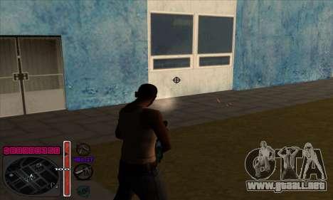 C-HUD by Andy Cardozo para GTA San Andreas sucesivamente de pantalla