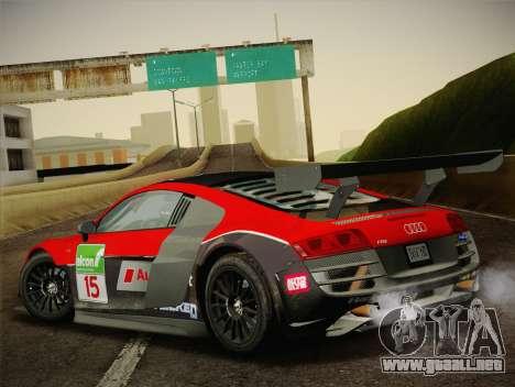 Audi R8 LMS Ultra Old Vinyls para GTA San Andreas interior