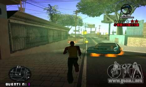 C-HUD Quentin para GTA San Andreas quinta pantalla