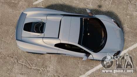McLaren MP4-12C Spider 2013 para GTA 4 visión correcta