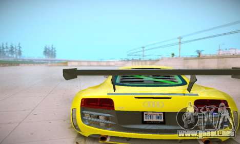 Audi R8 LMS Ultra v1.0.0 para GTA San Andreas vista hacia atrás