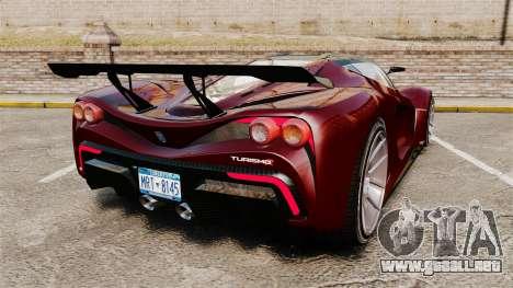 GTA V Grotti Turismo R v2.0 para GTA 4 Vista posterior izquierda