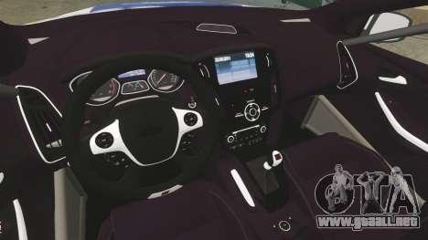 Ford Focus ST Rally para GTA 4 vista hacia atrás