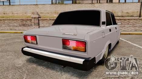 El USO de-Lada 2107 para GTA 4 Vista posterior izquierda