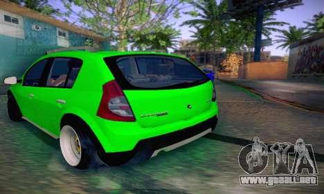Dacia Sandero para GTA San Andreas vista posterior izquierda