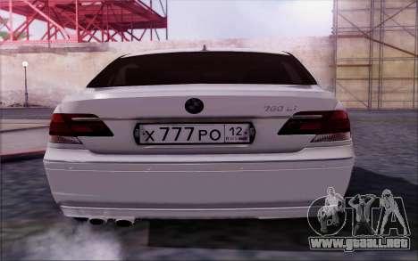 BMW 760Li E66 para la visión correcta GTA San Andreas