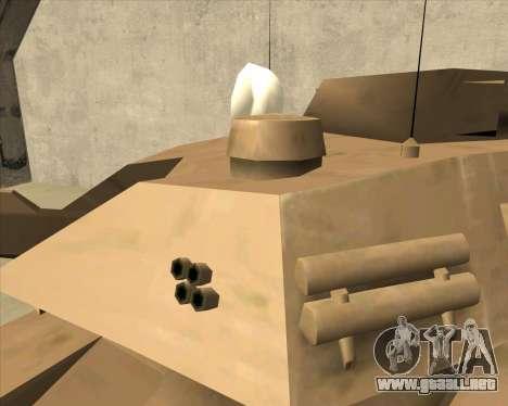 Rhino Mark.VI para la visión correcta GTA San Andreas