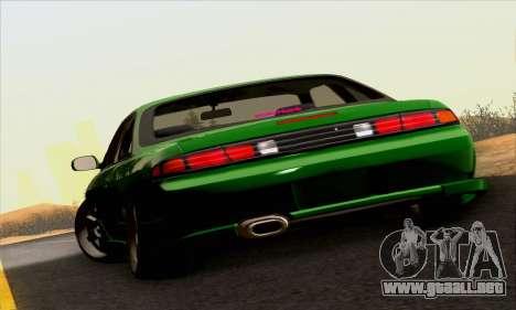 Nissan Silvia S14 Stance para GTA San Andreas vista hacia atrás