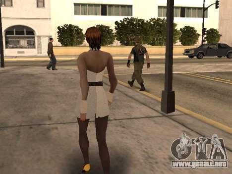 Chica de vestido blanco para GTA San Andreas sucesivamente de pantalla
