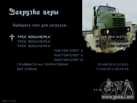 Inicio pantallas Soviética Camiones para GTA San Andreas octavo de pantalla