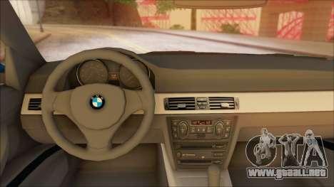 BMW 330i para GTA San Andreas vista posterior izquierda