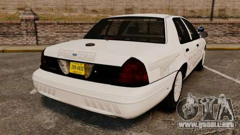 Ford Crown Victoria Traffic Enforcement [ELS] para GTA 4 Vista posterior izquierda