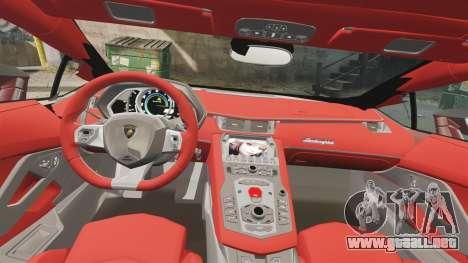 Lamborghini Huracan 2014 Oakley Tuning para GTA 4 vista interior