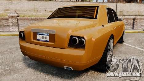 Super Diamond VIP para GTA 4 Vista posterior izquierda