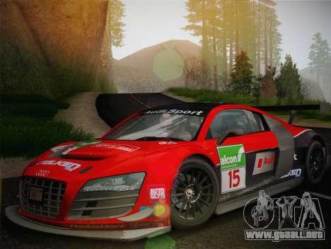 Audi R8 LMS Ultra Old Vinyls para vista lateral GTA San Andreas