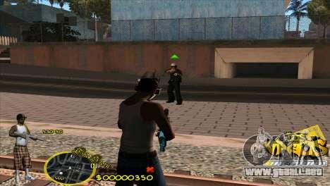 C-HUD Vagos by HARDy para GTA San Andreas tercera pantalla