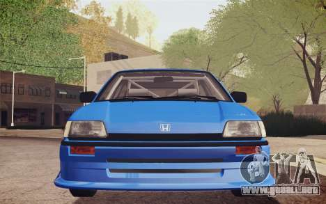 Honda Civic S 1986 IVF para vista lateral GTA San Andreas