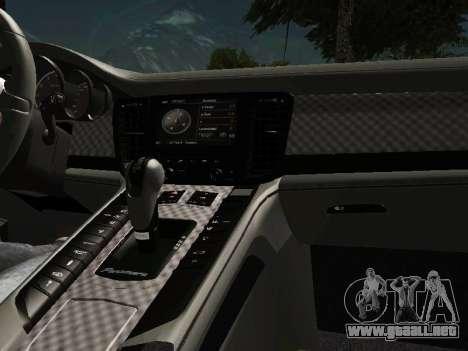 Porsche Panamera 2011 para visión interna GTA San Andreas